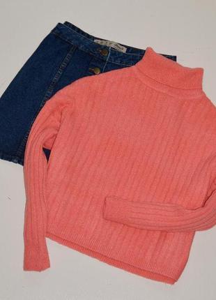 Sale asos крутейший свитер гольф оверсайз с шерстью,персикова-розовый
