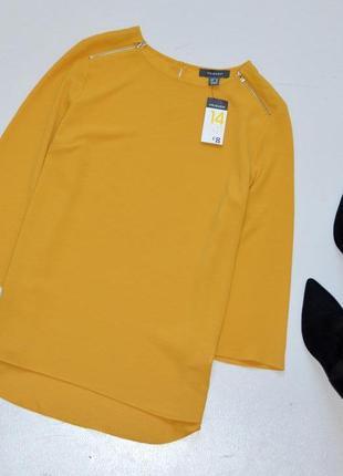 Sale primark красивая блуза горчичного цвета с молниями