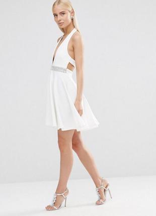 Белое платье выпускной/вечеринка/день рождения/корпоратив/новый год