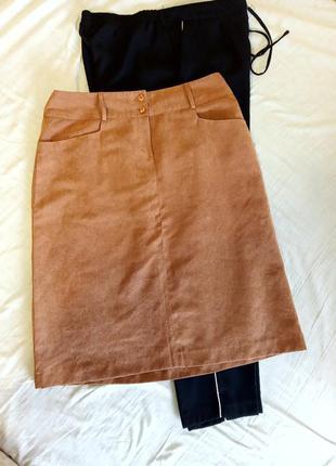 Светло коричневая юбка