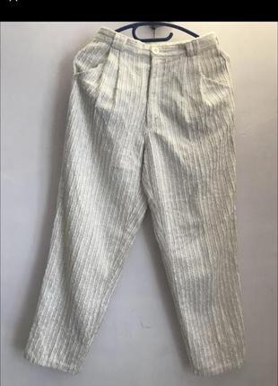 Прямые брюки белого цвета