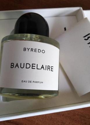 Духи byredo baudelaire 100мл edp парфюмированная вода