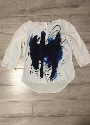 Лёгкая, натуральная, белая блуза h&m
