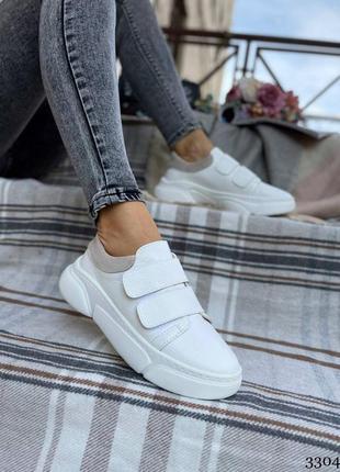 Женские кроссовки на липучках 3304