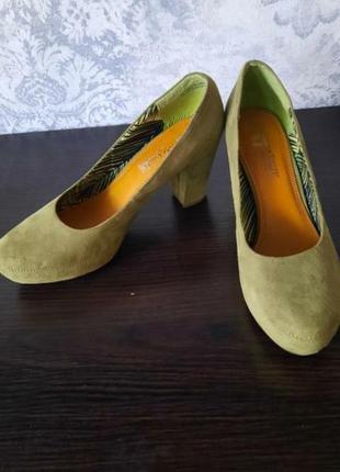 Туфли натуральный замш,удобная колодка