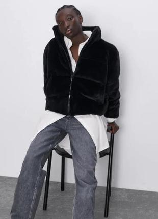 Шуба куртка zara🖤