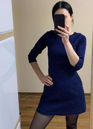 Джинсовое платье по фигуре zara