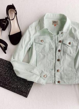Мятная куртка / пиджак / джинсовка