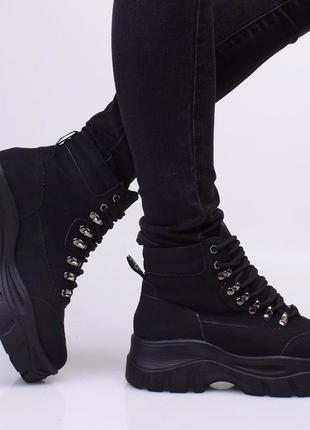 Высокие,модные женские осенне-весенние кроссовки на масивной подошве
