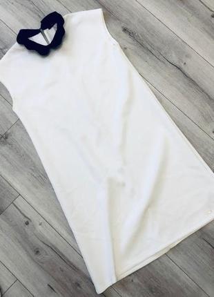 Белоснежное нарядное платье с воротником mohito