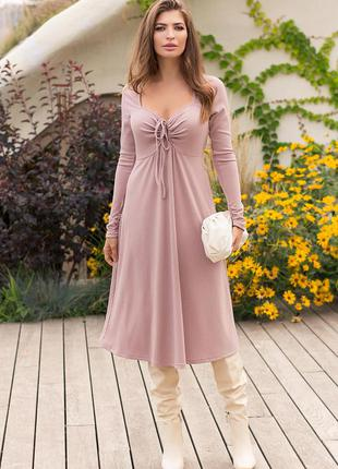 Платье женское миди трикотаж резинка