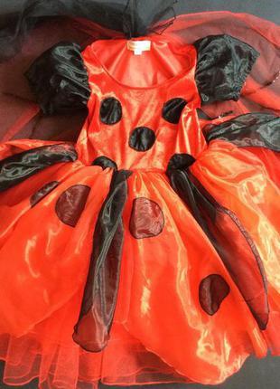Vip карнавальное платье божья коровка 2-4 г