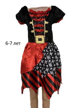 Платье пиратки бандитки пиратка бандитка разбойница карнавальное платье