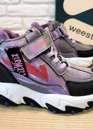Деми ботинки weestep 5801pe фиолетовый размеры 27-32