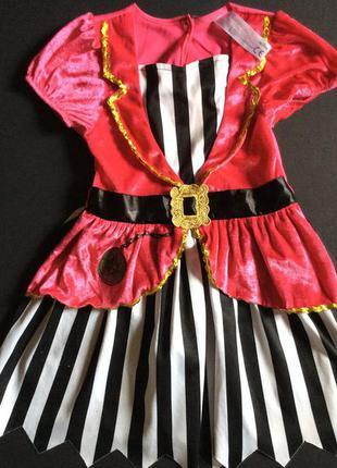 Карнавальное платье пиратки 2-3 года