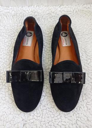 Туфли лоферы балетки кожаные замшевые