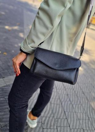 Сумочка сумка з широким ременем шкіра