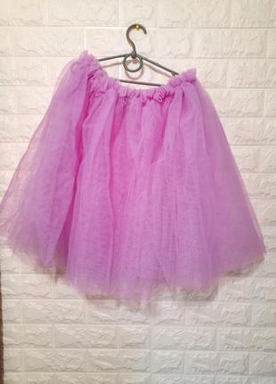 Фатиновая юбка для аниматора, фиолетовая юбка