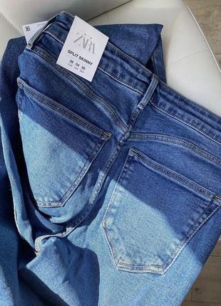 Трендовые джинсы zara с разрезами