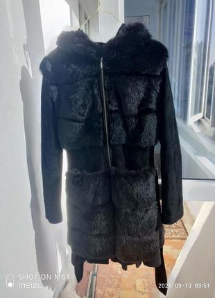 Замшевая куртка-жилетка 2 в 1