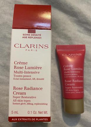 Супер восстанавливающий лифтинг крем для лица с розой clarins
