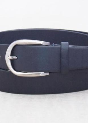 Женский кожаный ремень синий