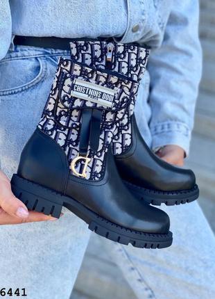 Рр 36-40 ботинки женские черные