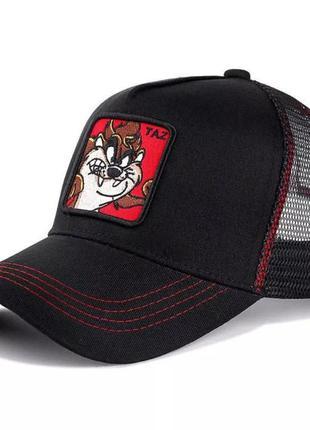 Кепка бейсболка тракер с сеткой goorin brothers cartoons мультик taz с тасманским дьяволом черная