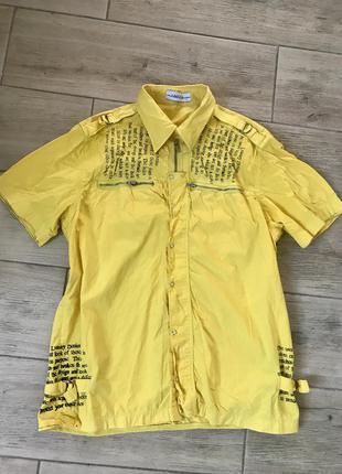 Фирменная рубашка с коротким рукавом