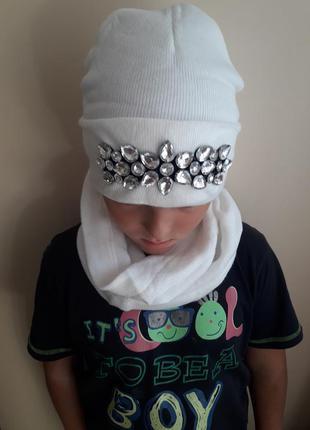 Новая шапуля с шарфиком