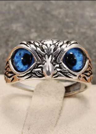 Винтажное кольцо в форме совы для мужчин и женщин