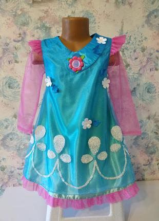 Платье розочки из тролли , карнавальный костюм