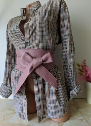 Пудровый розовый пояс оби на талию, широкий утягивающий пояс