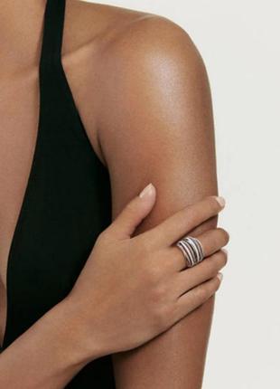 Кольцо многослойное многорядное кольцо с фианитами