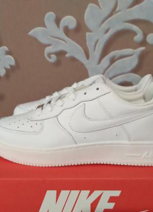 Женские кроссовки nike air force white (белые) стильная кожаная обувь