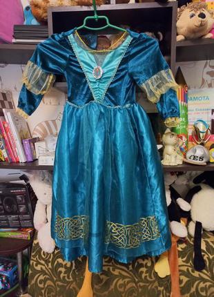 Платье карнавальное мерида на 5-6лет