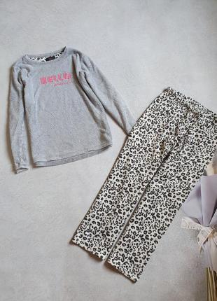 Женская тёплая пижама р.m-l