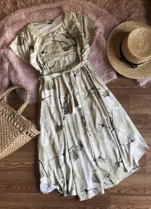Платье-миди с принтом (xl)