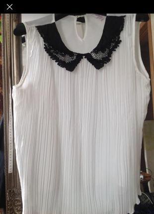 Плиссированная блуза 54-56