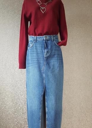 Джинсовая юбка 100% cotton.