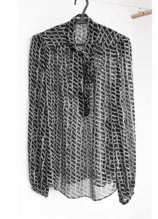 Шелковая блуза 100% шелк блуза из шелка шелковая блузка с бантом шовкова блуза шовк блуза с длинным рукавом