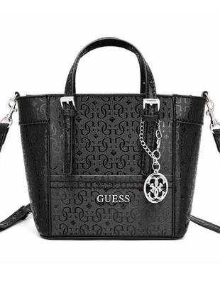 Женская кожаная черная брендовая сумка