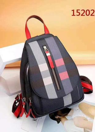 Жіночий рюкзак в клітинку портфель / женский рюкзак