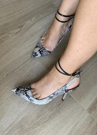 Massimo dutti туфли босоножки zara