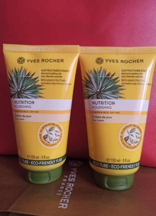 Дневной крем для волос питание и шелковистость ив роше/ yves rocher