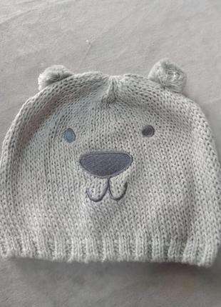 Дитяча в'язана бавовняна шапочка, рр.51-53, 53-55