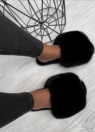 Домашние тапочки тапки женские чёрные