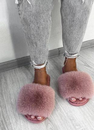 Домашние тапочки тапки женские розовые пудра