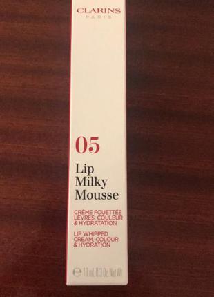 Clarins кремовый блеск для губ lip milky mousse № 05 milky rosewood, 7 мл