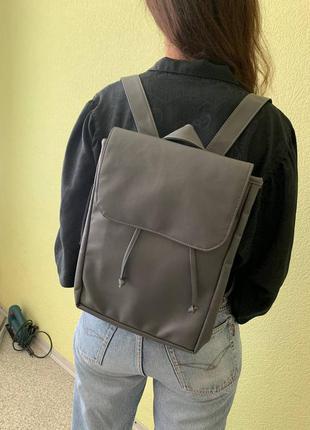 Распродажа/sale/скидка женский подростковый большой серый графитовый стильный рюкзак для школы